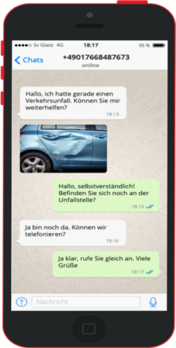 Gutachter Glass per WhatsApp kontaktieren