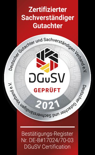 Jahressiegel DGuSV Gutachter Glass
